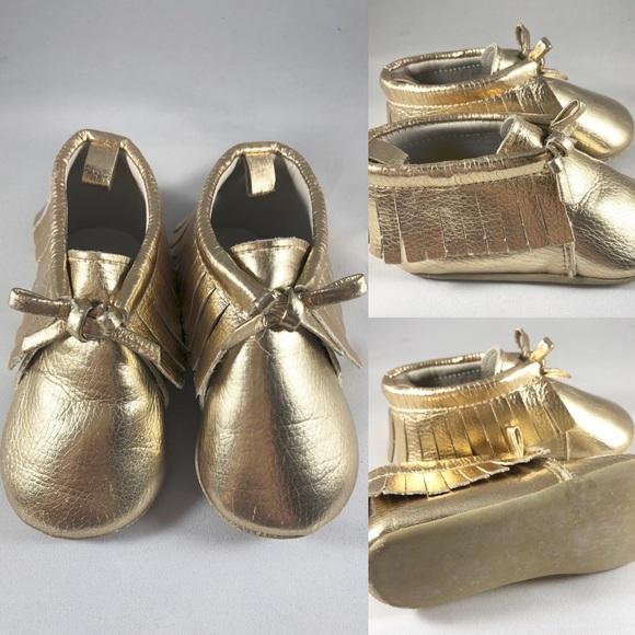 Baby Girl Gold Moccasins   Poshmark